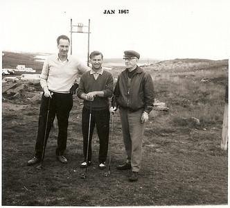 Meistaramót GR 1966.  Á fyrsta teig: Viðar Þorsteinsson, Jóhann Eyjólfsson, Helgi Eiríksson.