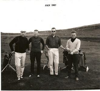 Meistarmót GR 1966. Fv. Gunnar Þorleifsson, Jón Þór Ólafsson, Ragnar Jónsson, Sveinn Snorrason.