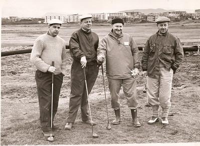 Á Öskjuhlíðarvelli 1961.