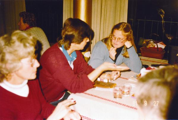 Fv. Hanna Gabríels, Elsa K Wiium, NN, Jóhanna Ingólfsdóttir.