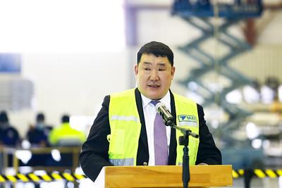 2020 оны арваннэгдүгээр сарын 5. Ерөнхий сайд У.Хүрэлсүх МИАТ ТӨХК-иас эхлэн зам тээврийн салбарын ажилтай танилцлаа.   ГЭРЭЛ ЗУРГИЙГ Б.БЯМБА-ОЧИР/MPA
