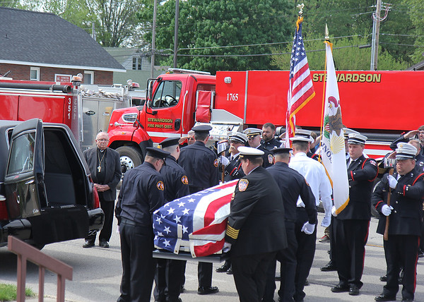 The funeral of Lloyd Tarrant, 66, Shumway, brought members from regional firefighting organizations to honor his life on Thursday. Tarrant joined the Shumway Fire Department in 1991.