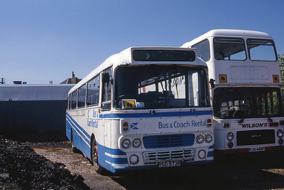 Bus and Coach Rental Dennistoun RSD973R Depot Carnwath Jun 96