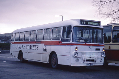 Castle Coaches Jamestown USO189S Balloch Bus Stance Jan 89