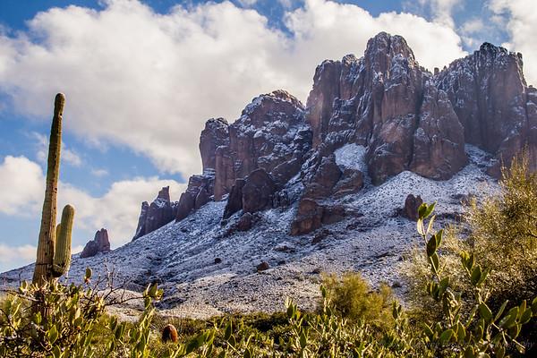 Look! It snows in the Phoenix area!