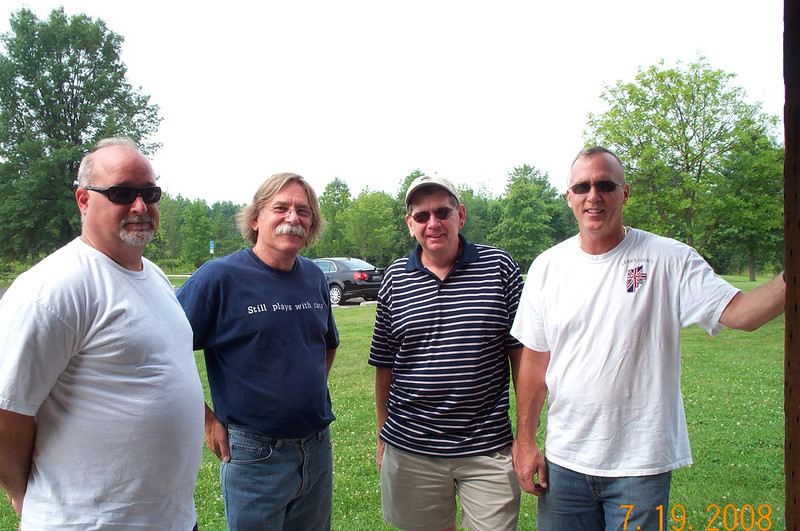 Dennis Wilfong, Bob Leonard, Ray Lydon, & Tom Sultzer Summer Party 2008 005