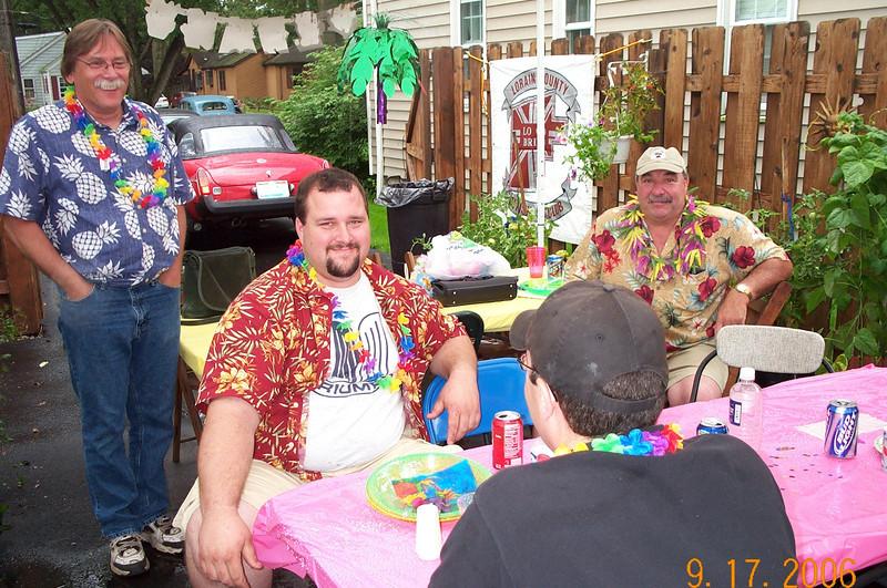 Bob Leonard, Dennis Pastron, Rob Wilfong  Summer Party 2006