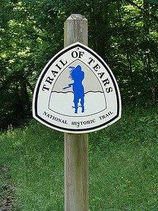 "Trail of Tears State Park  photo by Yvonne  The pristine 3,415-acre setting creates a peaceful memorial to the 3,000-4,000 Cherokee who died on the forced march through North Carolina, Tennessee, Kentucky, Illinois, Missouri and Arkansas to Oklahoma.  Beginning in May of 1838, over 7,000 troops, under the command of General Winfield Scott, moved into Cherokee country and began rounding-up, disarming the Cherokee and placing them in stockades to await forced removal. Unbearable suffering created an unthinkable devastation of ""The People"". Ultimately over 16,000 Cherokee were forced to march on the ""Trail of Tears"" beginning in June of 1838. Contaminated water and food supplies and dysentery struck the group and their marching had to be delayed until October, 1838.  In January of 1839 the winter crossing of the Mississippi River from southern Illinois into Missouri was treacherous. There were delays due to large chunks of ice passing swiftly down river. For days the group suffered the cold January winter"
