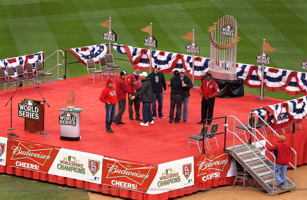 11 in 11! The St. Louis Cardinals celebrate their 11th World Series title.