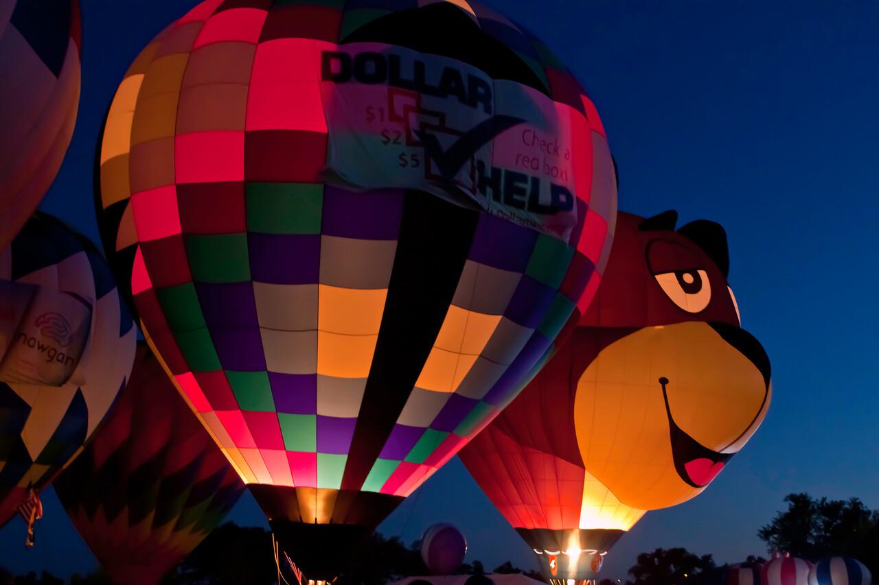 Great Forest Park Balloon Race, Balloon Glow, 9/17/10