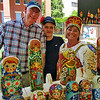 This family sold nesting dolls from Russia.