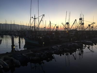 September trip: Dawn departure from the Santa Barbara harbor