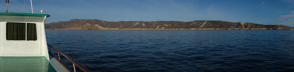 August trip: Looking toward the Gaviota coast from Naples Reef, a Marine Protected Area (MPA)