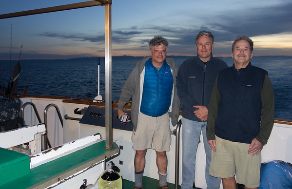 Carl, Jacek, and Dave, fellow divers from the Paradise Dive Club