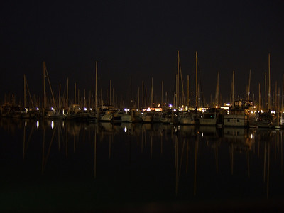 Santa Barbara Harbor at night (we bunked overnight on the Truth boat for our 4 a.m. departure)
