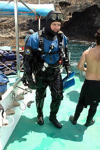 Ray finishing up a dive (photo by Carl Gwinn)