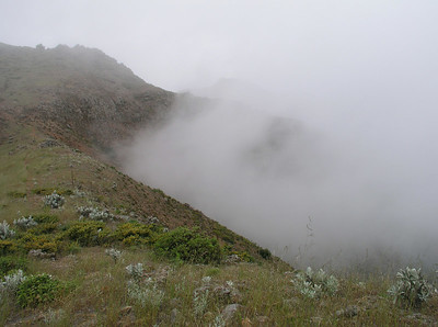 "The ""view"" from Montanon Ridge"