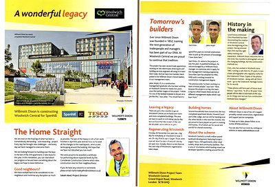 August 2013 . Woolwich central news sheet
