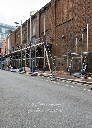 Sept' 15th 2015 .. Scaffold erection prior to demolition