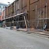 Sept' 15th 2015 .. Scaffold erection prior to demolition