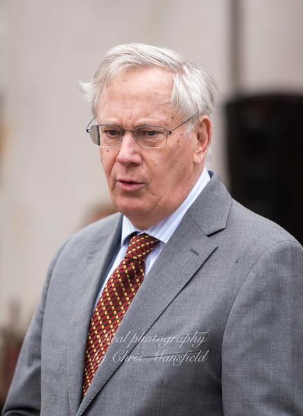 April 11th 2018.  HRH The Duke of Gloucester unveils new gates at St George's Garrison church