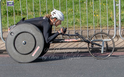 Manuella Schar from Switzerland..  winner of the ladies wheelchair race