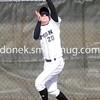 Adam Pickerill Catches a fly ball.