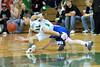 Ben Lloyd battles for the ball
