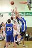 Kasey Martin reaches for a rebound
