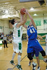 Jordan Dodge and Chase toft both grab the rebound