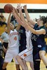 Aneicia Lujan and Krista Lopex battle with Cassir Rohrer and Alea Wildman for the rebound
