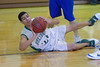 Ben Lloyd makes a pass from the floor