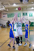 Niki Brumage and Shasta L'Heureux go for the rebound against Elly Alexander and Jessica Toney