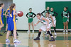Ashley Eikleberry defends the basket