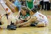 Amanda Brungart and Diedra Diaz battle for the ball.