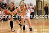 Nikki Shumacker tries to get the ball from Amanda Brungardt