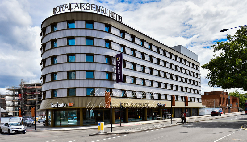 July 27th 2017 .  Royal Arsenal Hotel now finished
