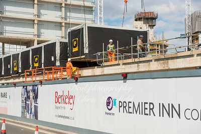 August 10th 2016.  Modular bedrooms being lifted into place