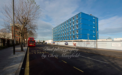 Jan 9th 2015. Beresford street .. showing the unfinished Beresford hotel