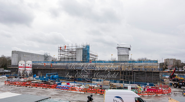 March 1st 2017.  This structure to the east of the main station building is mainly to house the equipment and services to maintain the smooth running of crossrail below woolwich