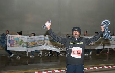 Charity fun run in the station box