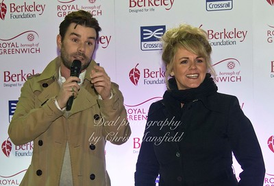 Minor celeb's   Radio DJ Dave Berry with actress Sally Lindsay made a guest appearance at the charity event