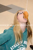 Christy Hollinshead competes in a doughnut eating contest