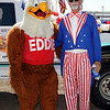 Dick Whitaker as Uncle Sam with Eddie Eagle (gun safe program)