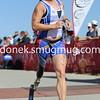 Sandra Dukat of Vail CO crosses the finish line