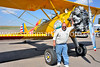 Dan Dunning of Strasburg with his 1942 Boeing Stearman