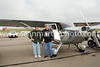 Steve Piety and Dennis Lacy with their 1947 Stinson
