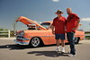 Tom and son Mark Herman of Strasburg.  1954 Chevy built by Tom's sons for him.