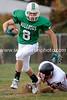 Travis Adamson escapes a Peyton tackler
