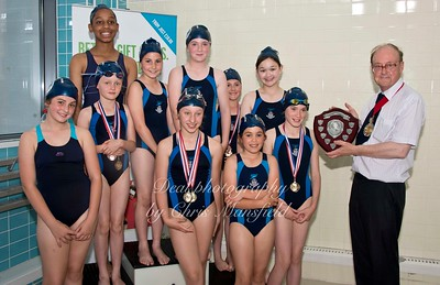 Overall girls winners shield St Marys